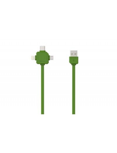 ALLOCACOC USB КАБЕЛ USB-C - USB TYPE-C, APPLE LIGHTNING, MICRO USB Power Cube USB Cable A9003GN