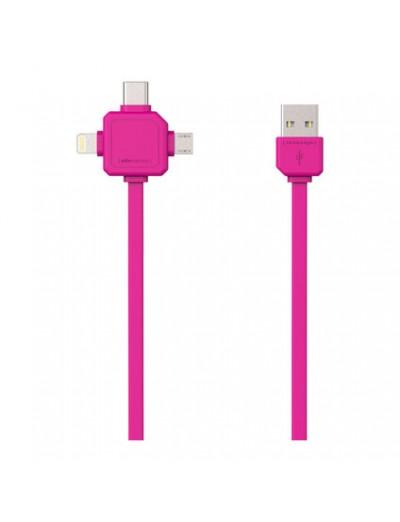 ALLOCACOC USB КАБЕЛ USB-C - USB TYPE-C, APPLE LIGHTNING, MICRO USB Power Cube USB Cable A9003PK