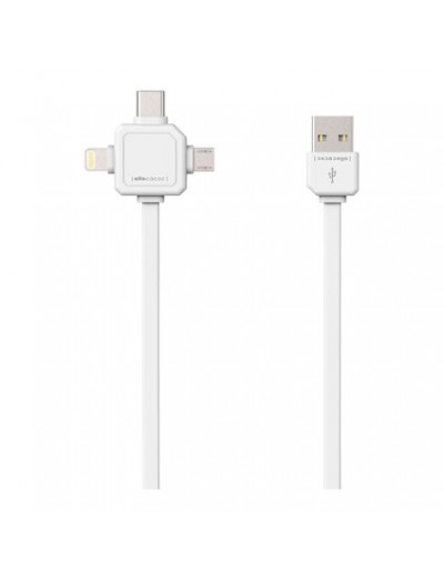 ALLOCACOC USB КАБЕЛ USB-C - USB TYPE-C, APPLE LIGHTNING, MICRO USB Power Cube USB Cable A9003WT