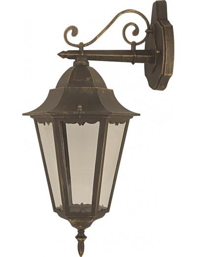 Belight Градинска лампа  горен носач Е27 max 100W, златна патина 36002-01-42
