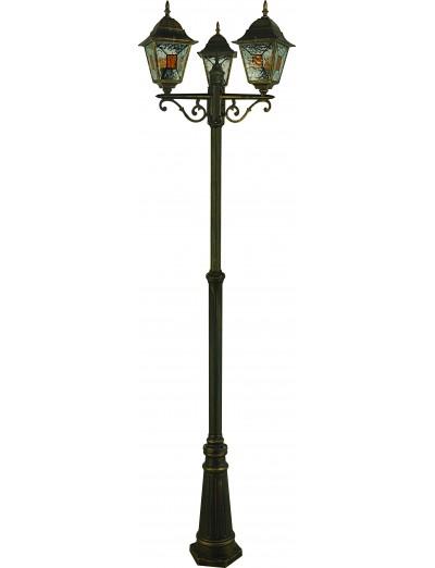 Belight Градинска лампа стояща 3xЕ27 max 60W, златна патина 34008-13-42