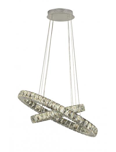Belight Пендел 43W Интегриран LED 1880lm Хром 20702-63-11