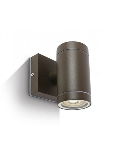 One light Аплик за монтаж на открито кафяво GU10 35w IP54 67130E/BR