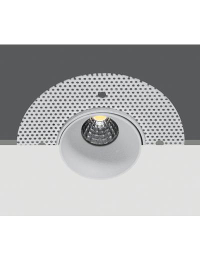 One light LED Луна за вграждане в гипскартон  (скрит монтаж) бяла 3W WW 10103TR/W/W