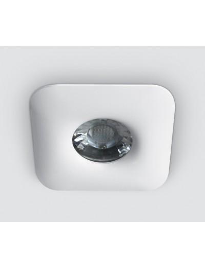 One light Луна за вграждане фиксирана квадратна GU10 бяло 50W 50105U/W