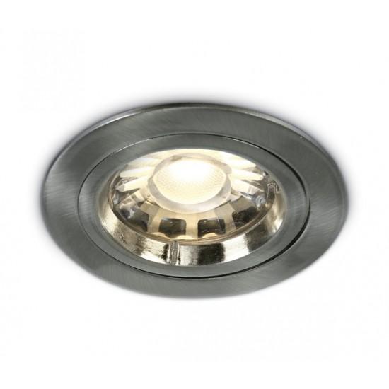 One light Луна за вграждане инокс метал кръгла MR16 GU5.3 50W 12V IP20 10105/MC - Луни за вграждане