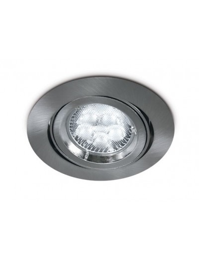 One light Луна за вграждане сива метал кръгла GU10 50W 12V IP20 с насочване 11105CGU/G