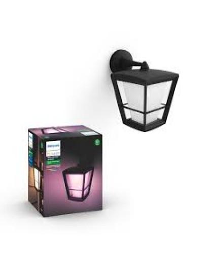 Philips, Градинска лампа, WiFi, LED, 1150Lm, 15 W, Hue Econic, IP44, Черен, 1744030P7