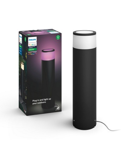 Philips, Градинска лампа с адаптор, WiFi, LED, 600Lm, 8 W, Hue Calla, IP65, Черен, 1745130P7