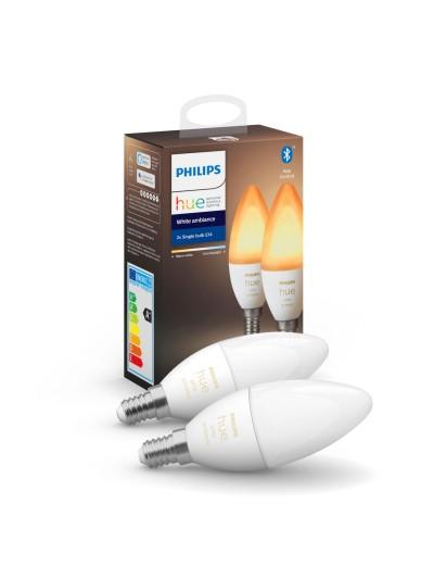 Philips HUE LED лампа 2бр WA 6W E14 B39 871869972635500