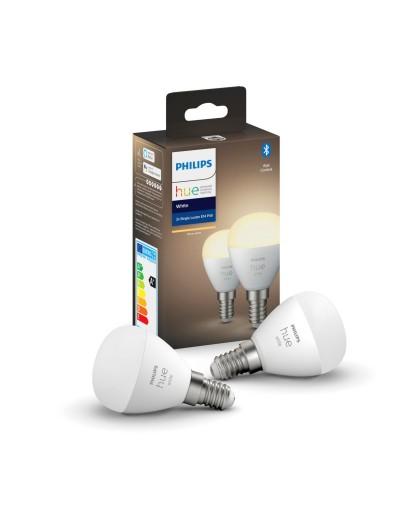 Philips HUE LED лампа 2бр White 5.5W E14 P45 871951426690200