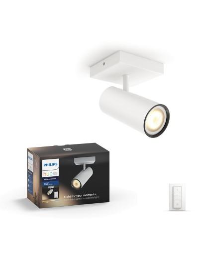 Philips HUE Спот Butatto с лампа GU10 WA и димер ключ 50461.31.P7