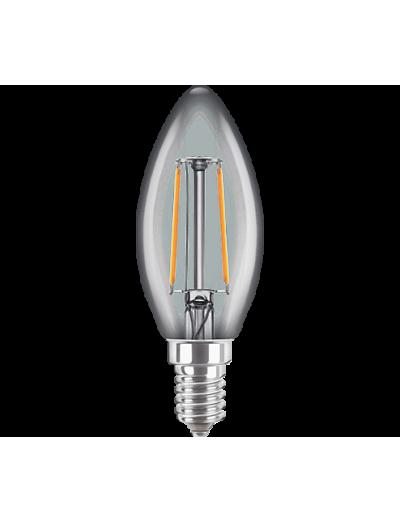 Philips LED лампа 2-25W B35 E14 топла светлина, 871869657407200
