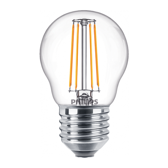 Philips LED лампа 4.3-40W P45 E27 топла светлина 871869976317600 - LED лампи с класическа форма