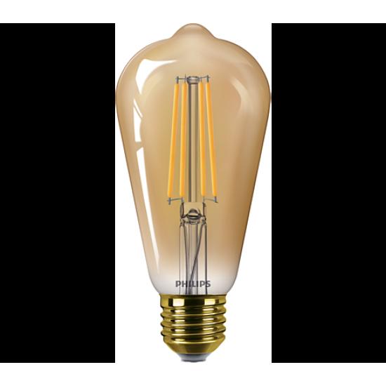 Philips LED лампа 5.5-48W ST64 E27 Gold топла светлина 87186996735810 - LED лампи с класическа форма