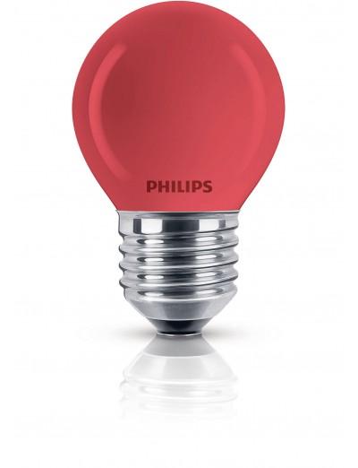 Philips Party червена 15W E27 220-240V P45 RE 1CT/4X5F 871150017743838
