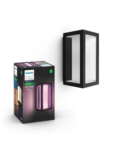 Philips, Външен аплик, WiFi, LED, 1200Lm, 8 W, Hue Impress, IP44, Черен, 1742930P7