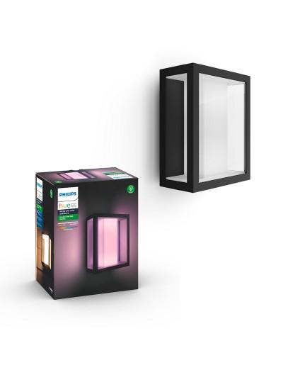 Philips, Външен аплик, WiFi, LED, 1200Lm, 8 W, Hue Impress, IP44, Черен, 1743030P7