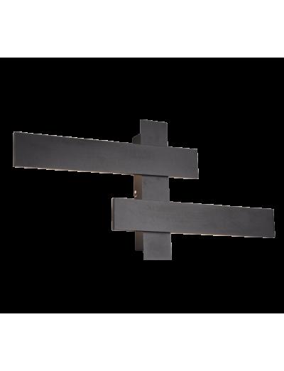 Trio Аплик BELFAST, 2x9W, LED, 3000K, 2x900lm, черен мат, 275510232