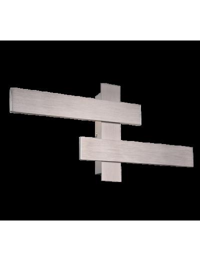Trio Аплик BELFAST, 2x9W, LED, 3000K, 2x900lm, никел мат, 275510207