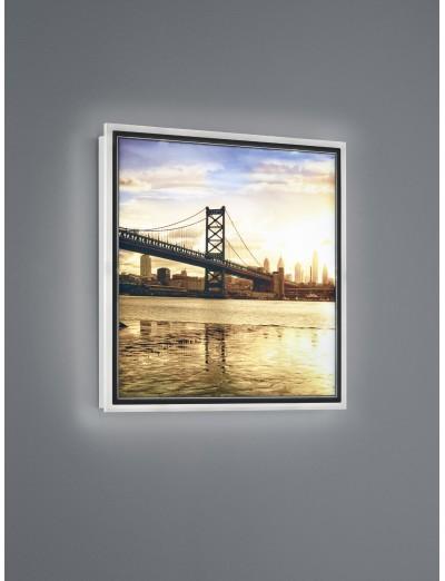 Trio, Аплик картина, LED, 1x12W, 1100Lm, Топла светлина, Bridge, IP20, Бял, R22140201