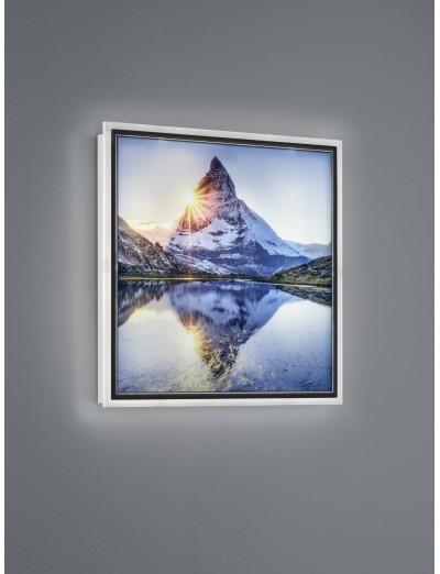 Trio, Аплик картина, LED, 1x12W, 1100Lm, Топла светлина, Mountain, IP20, Бял, R22140301