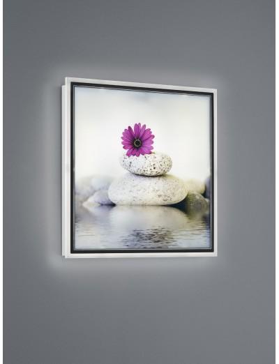 Trio, Аплик картина, LED, 1x12W, 1100Lm, Топла светлина, Zen, IP20, Бял, R22140101