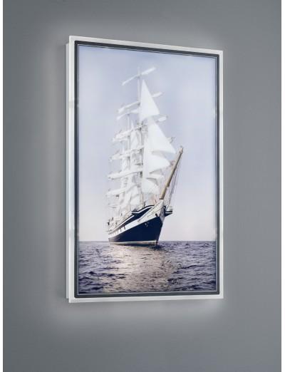 Trio, Аплик картина, LED, 1x16W, 1400Lm, Топла светлина, Clipper, IP20, Бял, R22149101