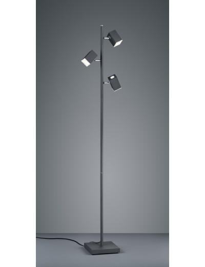 Trio Lagos Led Стояща лампа 3х5W, 400Lm, черен 427890332