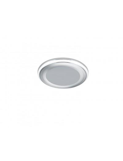Trio Луна за вграждане Aura 1x5W Интегриран LED 450Lm Хром 652310106