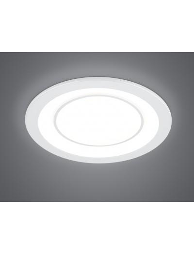 Trio Луна за вграждане Core 1x10W Интегриран LED 1040Lm Бял мат 652610131