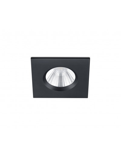 Trio Луна за вграждане Zagros 1x5W Интегриран LED 345Lm Черен мат IP65 650610132
