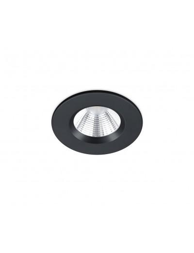 Trio Луна за вграждане Zagros 1x5W Интегриран LED 345Lm Черен мат IP65 650710132