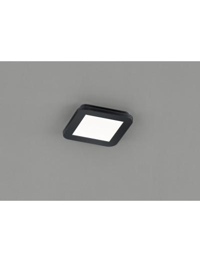 Trio Плафониера Camillus 1x10W Интегриран LED 850Lm Черен мат IP44 R62931032