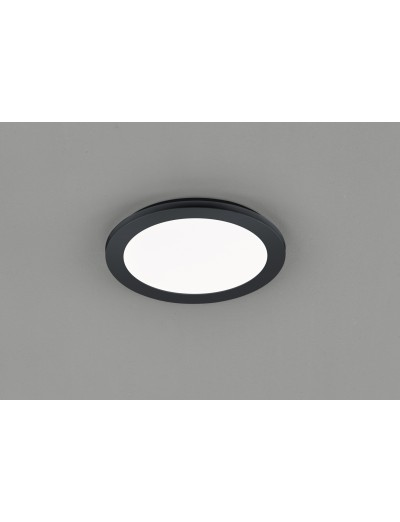 Trio Плафониера Camillus 1x15W Интегриран LED 1350Lm Черен мат IP44 R62921532