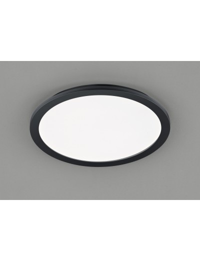 Trio Плафониера Camillus 1x24W Интегриран LED 2000Lm Черен мат IP44 R62922432