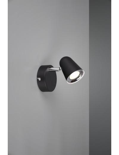 Trio Спот Toulouse 1x3W Интегриран LED 400Lm Черен мат R82121132