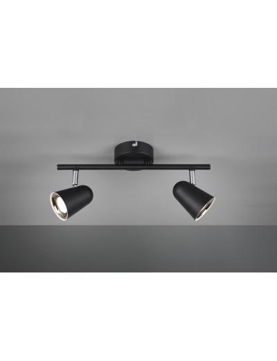 Trio Спот Toulouse 2x3W Интегриран LED 800Lm Черен мат R82122132