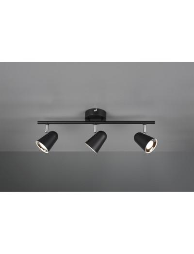 Trio Спот Toulouse 3x3W Интегриран LED 1200Lm Черен мат R82123132