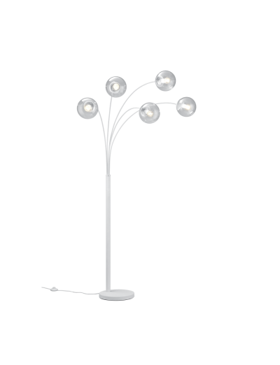 Trio Стояща лампа BALINI, E14, бяла 408500531