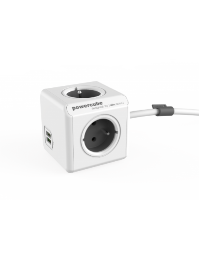 ALLOCACOC РАЗКЛОНИТЕЛ 4 ГНЕЗДА/USB/1.5М КАБЕЛ Power Cube Extended A1402GY