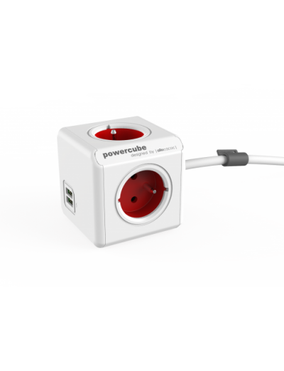 ALLOCACOC РАЗКЛОНИТЕЛ 4 ГНЕЗДА/USB/1.5М КАБЕЛ Power Cube Extended A1402RD