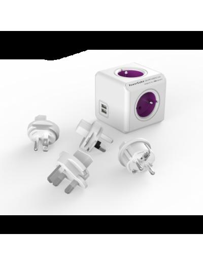 ALLOCACOC РАЗКЛОНИТЕЛ 4 ГНЕЗДА/USB/ТРАВЕЛ КИТ Power Cube  Rewirable A1810
