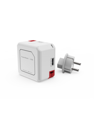 ALLOCACOC USB HUB / 4X USB; 1X MICROUSB / БАТЕРИЯ 5000mA Power Cube Power USB A9402