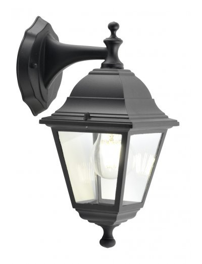 Belight Градинска лампа горен носач 1хE27 Черен IP44 34012-01-30