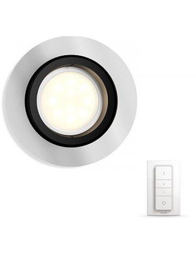 Philips HUE Луна за вгр.Milliskin с лампа GU10 WA и димер ключ 50411.48.P7