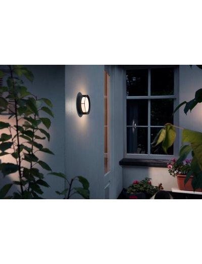 Philips Градинска лампа Actea 1x12W Интегриран LED 1200Lm Черен 1739030P0