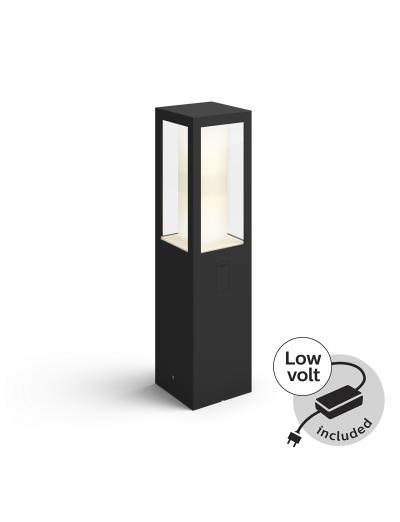 Philips, Градинска лампа с адаптор, WiFi, LED, 1200Lm, 8 W, Hue Impress, IP44, Черен, 1745430P7