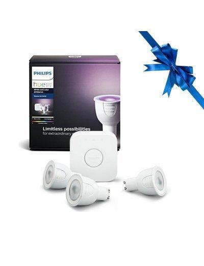 Philips HUE К-кт 3 бр. LED лампи RGB GU10 + конектор 871869963021800