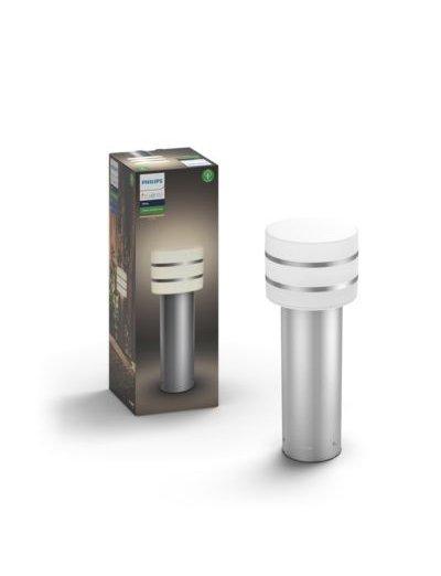 Philips HUE Tuar  Led Градинска лампа инокс 40 см включена - 1xE27 9.5 W 1740547P0
